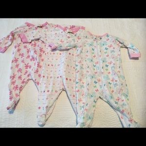 Set of 3 body Onsies for 0- 3 month old.